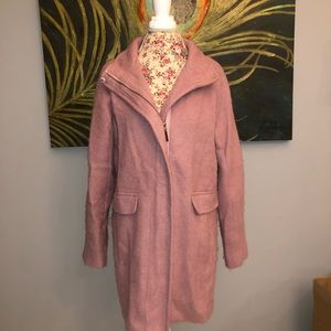 Vince Camuto Long Pink Wool Jacket